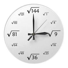 Clock This is What life can be like,trying to put it all together. Contributors and Researchers,lets get to removing barriers. Entry on Our Official Site Math Clock, Math Quotes, Math Magic, Square Roots, Math Formulas, Wall Clock Design, Math Humor, Diy Clock, Wood Clocks