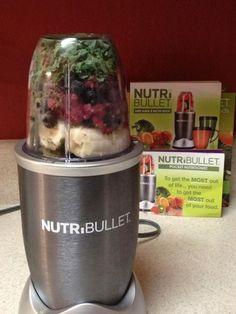 Breakfast w/ the #nutribullet strawberries,kale,bananas,raspberries, blueberries,blackberries,hemp-seeds & flaxseeds! #nutriblast by mona.guirguis.5