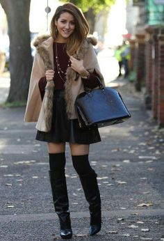 Louis Vuitton Women note leg warmer/socks above boot to lengthen to over the knee with flare mini