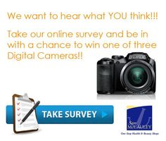 Win a Digital Camera. Participate in the survey to be in with a chance to win. Health And Beauty Shop, Take Surveys, What You Think, Fujifilm, Digital Camera, Competition, Ireland, Irish, Irish Language