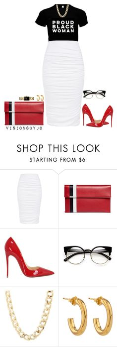 """Untitled #1620"" by visionsbyjo ❤ liked on Polyvore featuring Tomasini, Christian Louboutin, Charlotte Russe, Jennifer Fisher and Chanel"