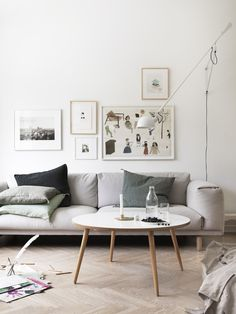 Artwork displayed on the wall in Petra Bindel's home in Sweden.