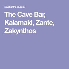 The Cave Bar, Kalamaki, Zante, Zakynthos