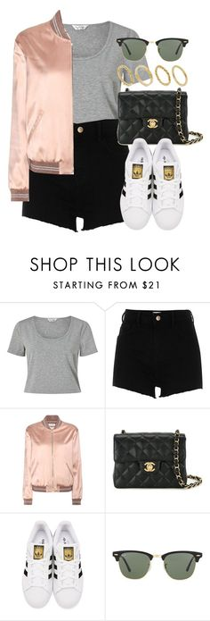 """""""Sin título #11929"""" by vany-alvarado ❤ liked on Polyvore featuring Miss Selfridge, River Island, Yves Saint Laurent, Chanel, adidas Originals, Ray-Ban and Made"""