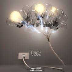 Creativity, conceptual computer artwork. Stock Photo