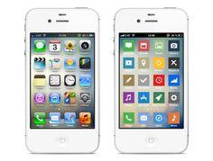 iOS UI minimalized by Sebastian Gansrigler, via Behance