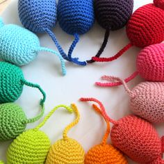 Crochet Rainbow Mice - tails