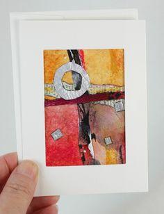 Original Tea Bag Art Collage, ACEO Greeting Card, OOAK by JudyApplegarthArt on Etsy