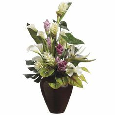 Allstate Floral 36 in. Artificial Tropical Flowers Floral Arrangement
