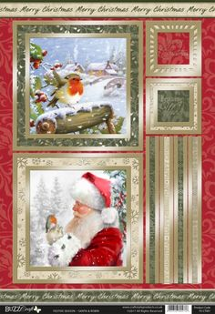 New Kanban Winter Deco Christmas Die Cut /& Foiled Toppers P/&P Offer
