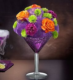 Shocktail Bouquet #flowers #roses #Halloween