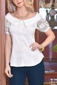 Blouse Styles, Blouse Designs, Classy Suits, Sewing Blouses, Casual Summer Outfits For Women, Blouse Dress, Lace Tops, Dress Patterns, Casual Looks