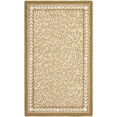 Safavieh Hand-hooked Chelsea Leopard Ivory Wool Rug (2'9 x 4'9) - Overstock™ Shopping - Great Deals on Safavieh 3x5 - 4x6 Rugs