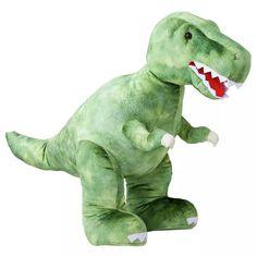 Buy Chad Valley 62cm Dinosaur Soft Toy | Teddy bears and soft toys | Argos Raccoon Stuffed Animal, Dinosaur Stuffed Animal, Ava Doll, Baby Rocking Horse, Giant Dinosaur, Baby Clothes Sale, Green Fur, Jungle Animals, Free Baby Stuff