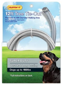 Ruffin' It Tree Tie Out, 4200-Pound, Strength Up to 18-Feet >>> Stop everything and read more details here! : Dog Training and Behavior Aids