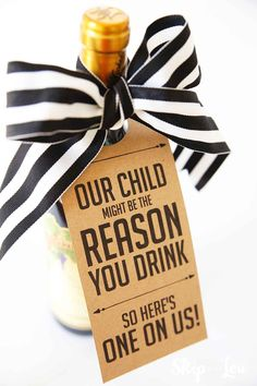 My Child Might be the Reason you Drink Teacher Wine Gift makes for a funny teacher gift! It will not only make them laugh it will be appreciated. FREE printable wine gift tag. Funny Teacher Gifts, Teacher Christmas Gifts, Teacher Humor, Teacher Appreciation Gifts, Student Teacher, Christmas Presents, Employee Appreciation, Funny Christmas, Gift For Teacher