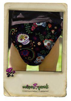 Sugar Skulls Diaper Cover | MisoPunk.com