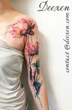 Deexen flower tattoo - tattoo styles, tattoo style names, tattoo styl Pretty Tattoos, Love Tattoos, Beautiful Tattoos, Body Art Tattoos, Tatoos, Diy Tattoo, Scar Tattoo, Small Flower Tattoos, Flower Tattoo Designs