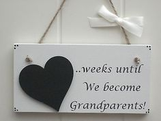 New baby #pregnancy announcement #plaque - #countdown until we become grandparent, View more on the LINK: http://www.zeppy.io/product/gb/2/262136995398/