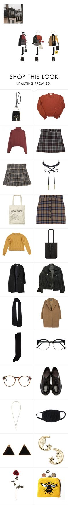 """pretty fallen leaves"" by eggpuffs ❤ liked on Polyvore featuring Chloé, Wood Wood, Scotch & Soda, Topshop, Les Prairies de Paris, American Apparel, Dorothee Schumacher, Dr. Martens, Isabel Marant and Prada"
