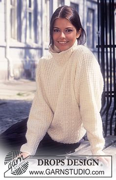 Free knitting patterns and crochet patterns by DROPS Design Knitting Kits, Sweater Knitting Patterns, Cardigan Pattern, Free Knitting, Crochet Patterns, Drops Design, Tweed, Pulls, Ponchos
