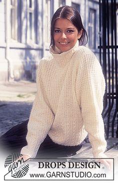 DROPS Sweater in Karisma-Angora Tweed ~ DROPS Design