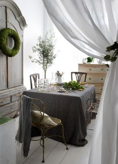 Kitchen inspiration..charcoal grey with hints of gold and green