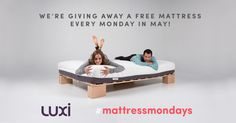 Fill out the entry form for up to FIVE chances to win a free Luxi mattress - a winner will be drawn every Monday during Better Sleep Month! ends tonight Canadian Contests, Free Sweepstakes, Aloha Party, Sounds Good To Me, Weird Gifts, Need A Vacation, Carnival Games, Enter To Win, Household Items
