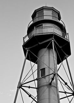 GEAT GIFT IDEA 5x7 Sanibel Lighthouse Black and White Photography by ThomasWorkshop, $4.00