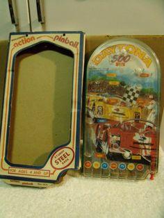 Vintage Wolverine Bagatelle Marble Pinball Daytona 500 With Original Box No. 144
