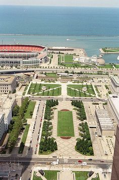 Cleveland Mall - We walk through here throughout the summer, down around the Stadium, Science Center, Rock Hall and Pier!