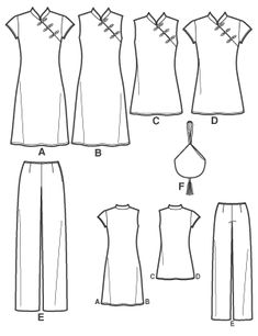 free sewing patterns | New Look 6812 - Misses Dresses, Tunics, Pants and Purse