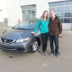 Congratulations Janelle and a big hello to you Ben! Enjoy your 2013 Honda Civic!