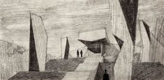 Here are some interesting houses by Greek architect Takis Zenetos, whose work we first looked at way back in [Image: House by Takis Zenetos from Takis Ch. Zenetos I will … Box Kite, Architecture Drawings, Modern Buildings, Kites, How To Draw Hands, Ceilings, Planes, Painting, Proposal