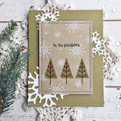 'Tis The Season Card by Heather Nichols for Papertrey Ink (October 2017)