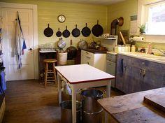 A Nice Yellow Farmhouse Kitchen<3