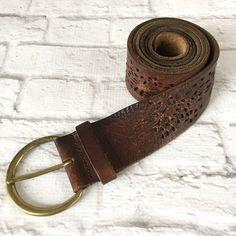 "Handmade Belt by Cactus Mountain Designs Authentic Buffalo Nickel  Conchos 36/"""