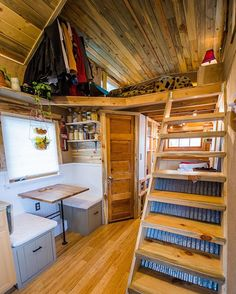 """The Bookworm""  Tag someone who might like this ⬇️❤️ Built by : Mitchcraft Tiny Homes"