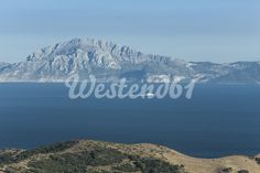 Spain, Tarifa, View from Strait of Gibraltar to Morocco
