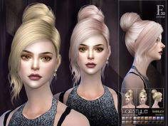 New Bunhair Found in TSR Category 'Sims 4 Female Hairstyles'