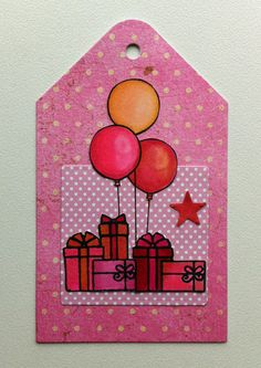 Tag card balloons gifts MFT beary special Birthday MFT blueprints tag-builder 1 Die-namics #mftstamps balloon - JKE