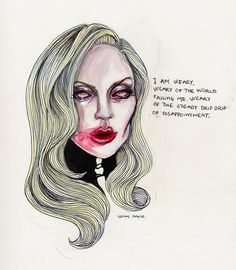 #Lady #Gaga #Countess #AHS artwork by the talented Lucas David. ~ lucasdavid.bigcartel.com ~  lucasbavid.tumblr.com ~