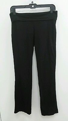 Mossimo Size Medium Black Stretch Yoga Workout Fitness Pants Womens B273