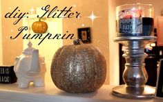 DIY: Glitter Pumpkin!
