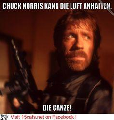 Chuck Norris kann die Luft anhalten