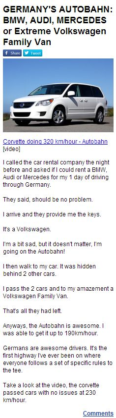 Robert Klein, Volkswagen, Audi, Bmw, Car Rental, Corvette, Corvettes