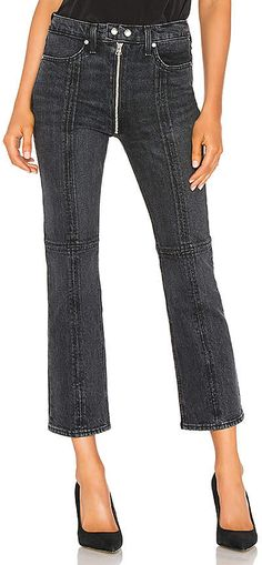 Shop for rag & bone/JEAN Iver Jeans in Black Bain at REVOLVE. Cropped Jeans, Capri Pants, Black, Women, Fashion, Moda, Black People, Fashion Styles, Cut Off Jeans