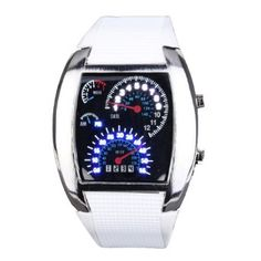Yesurprise Fashion Silicone Rubber Band Blue Binary DOT Unisex LED Wrist Watch White at $7.03  http://www.bboescape.com/products/buy/975/watches/Yesurprise-Fashion-Silicone-Rubber-Band-Blue-Binary-DOT-Unisex-LED-Wrist-Watch-White