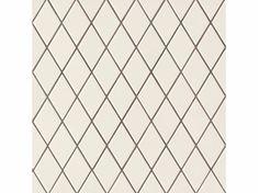 Revêtement de sol/mur en grès cérame ROMBINI LOSANGE WHITE GREY - MUTINA