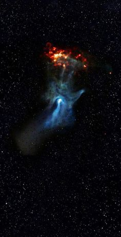 The 'Hand of God' Nebula.